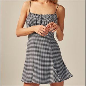 C/MEO Collective Black + White Houndstooth Dress